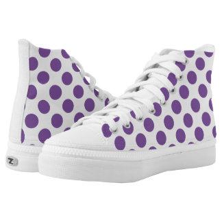 Purple Polka Dots Printed Shoes