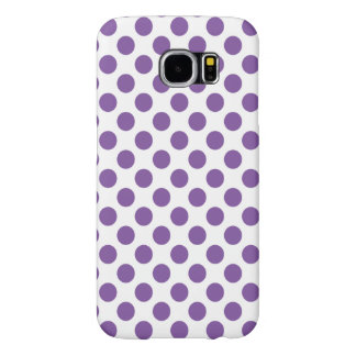 Purple Polka Dots Samsung Galaxy S6 Cases