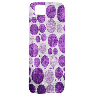 Purple polka dots seamless grunge wall background iPhone 5 covers