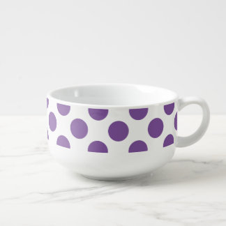 Purple Polka Dots Soup Mug