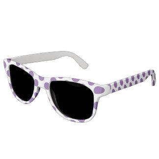 Purple Polka Dots Sunglasses