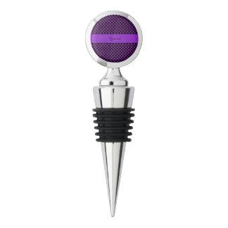Purple Polka Dots Wine Stopper