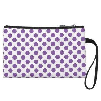 Purple Polka Dots Wristlet