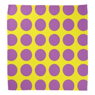 Purple Polka Dots Yellow Kerchief