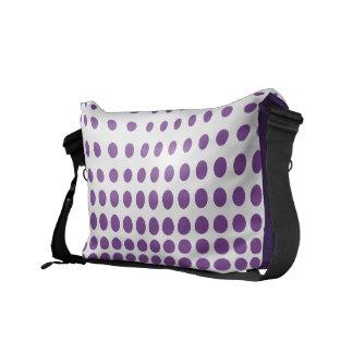Purple Polkadot Courier Bags