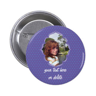 Purple polkadot photo frame button