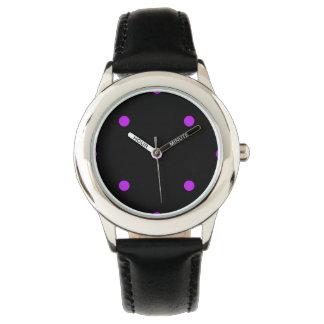 Purple Polkadots Small Wristwatches