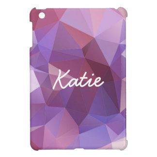 Purple Polygon Customisable iPad Mini Cover