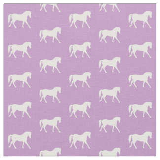 Purple Pony Fabric, Light Purple Horse Fabric