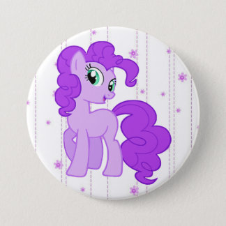 Purple Pony Little Girl's Button