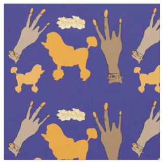 Purple poodle Hustle Fabric