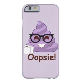 Purple Poop Emoji Oops Barely There iPhone 6 Case