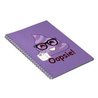 Purple Poop Emoji Oops Notebook