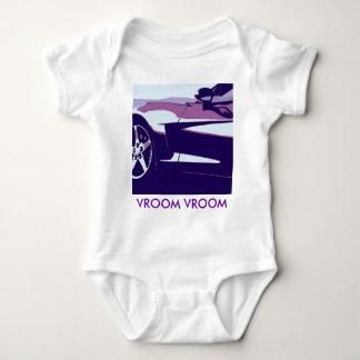 Purple Pop Art Corvette Baby Bodysuit
