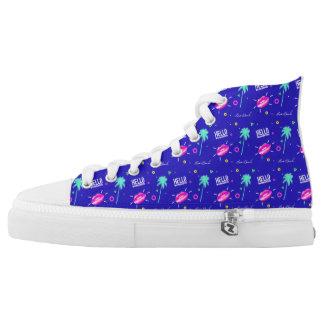 Purple Pop Art High Tops