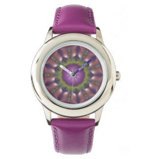 Purple Pop Fractal Watch