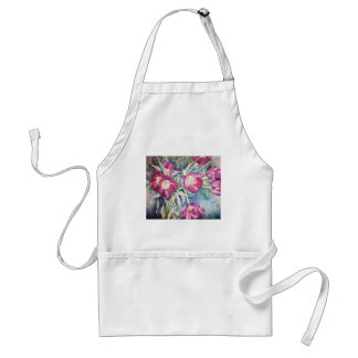 Purple Poppy Floral Watercolor Artists Smock Standard Apron