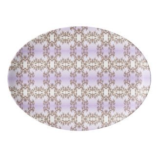 purple porcelain serving platter