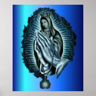 Purple Prayer Blessed Virgin Mary Print