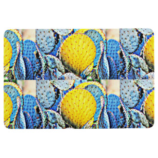 Purple Prickly Pear Cactus Home Mat