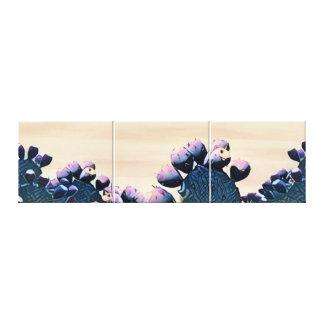 Purple Prickly Pear Canvas Print