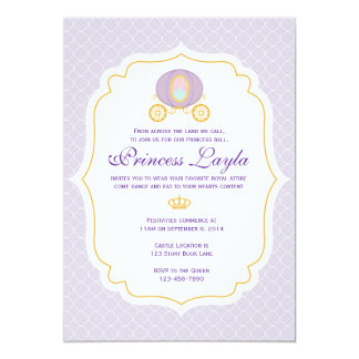 Purple Princess Birthday Invitation