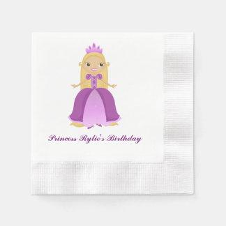 Purple Princess Birthday (personalize) Disposable Serviettes