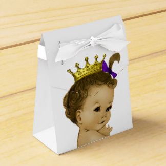 Purple Princess Ethnic Princess Baby Shower Favour Box