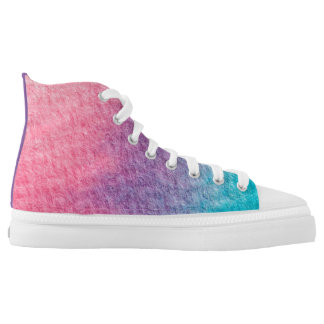 Purple printed custom Designer Sneakers