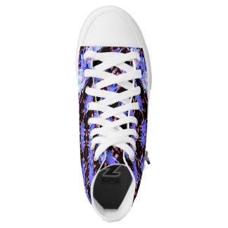 Purple printed high tops converse Sneakers