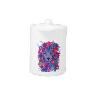 Purple Psychedelic Lion