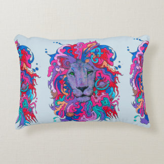 Purple psychedelic Lion Decorative Cushion