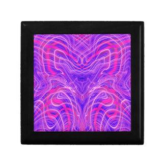 Purple psychedelic pattern gift box