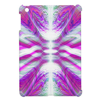 Purple psychedelic pattern iPad mini cases