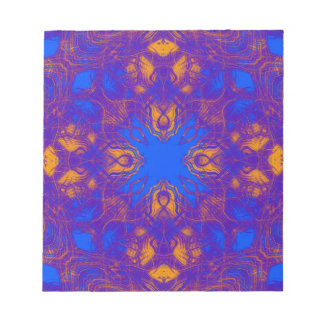 Purple psychedelic pattern notepad