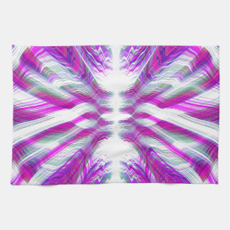 Purple psychedelic pattern tea towel