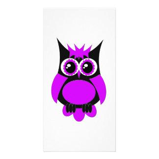 Purple Punk Owl Photo Card