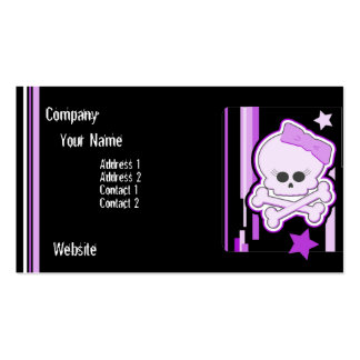 Purple Punk Skull Business Card