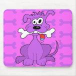 Purple Puppy Mousepad (Vertical)