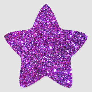 Purple Purple Sparkle Optical Illusion Art Star Sticker