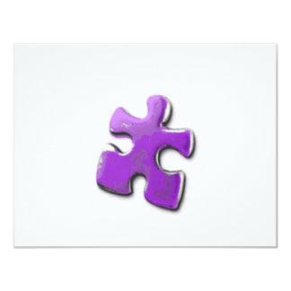 Purple Puzzle! A design also for Autism Awareness 11 Cm X 14 Cm Invitation Card