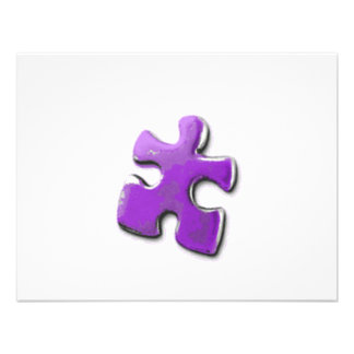 Purple Puzzle A design also for Autism Awareness Personalized Invites