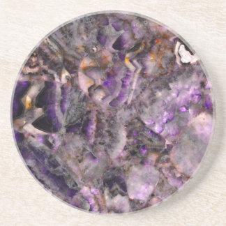 purple quartz coaster