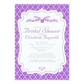 Purple Quatrefoil Bridal Shower Invitations