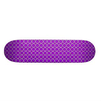 Purple Quatrefoil Skateboard