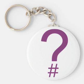Purple Question Tag/Hash Mark Key Chains