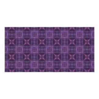 Purple quilt pattern customized photo card