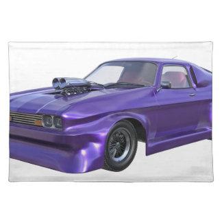 Purple Racing Car Placemat