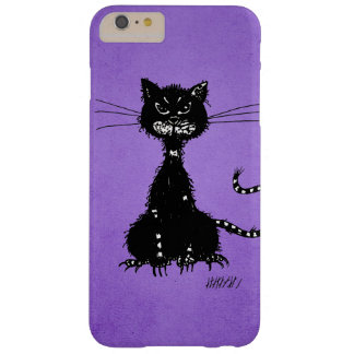 Purple Ragged Evil Black Cat Barely There iPhone 6 Plus Case