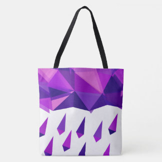 Purple Rain Contemporary Geometry Tote Bag